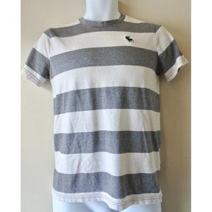 ABERCROMBIE KIDS white and grey t-shirt size 15/16